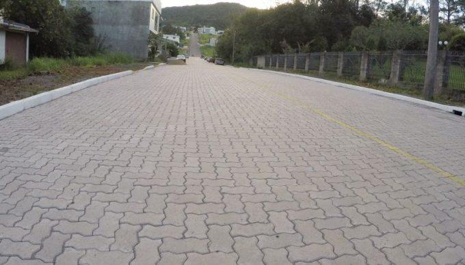 Pavimentação realizada no bairro Bom Fim na cidade de Feliz - RS
