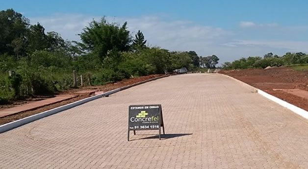 Pavimentação realizada no Loteamento de Estância Velha - RS